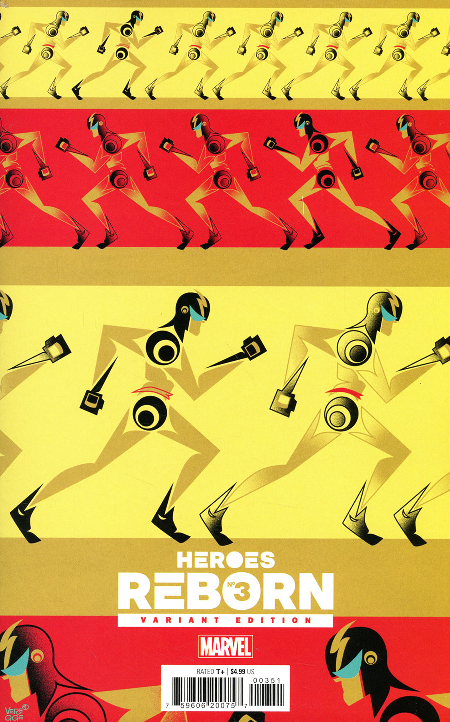 Heroes Reborn #3 Cover F Incentive Jeffrey Veregge Variant Cover