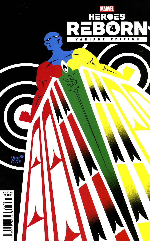 Heroes Reborn #4 Cover F Incentive Jeffrey Veregge Variant Cover
