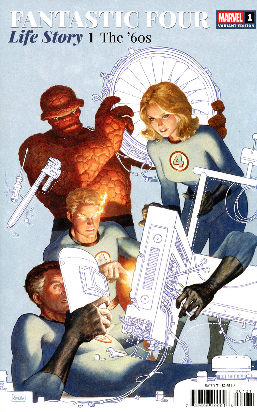 Fantastic Four Life Story #1 Cover D Incentive Paolo Rivera Variant Cover