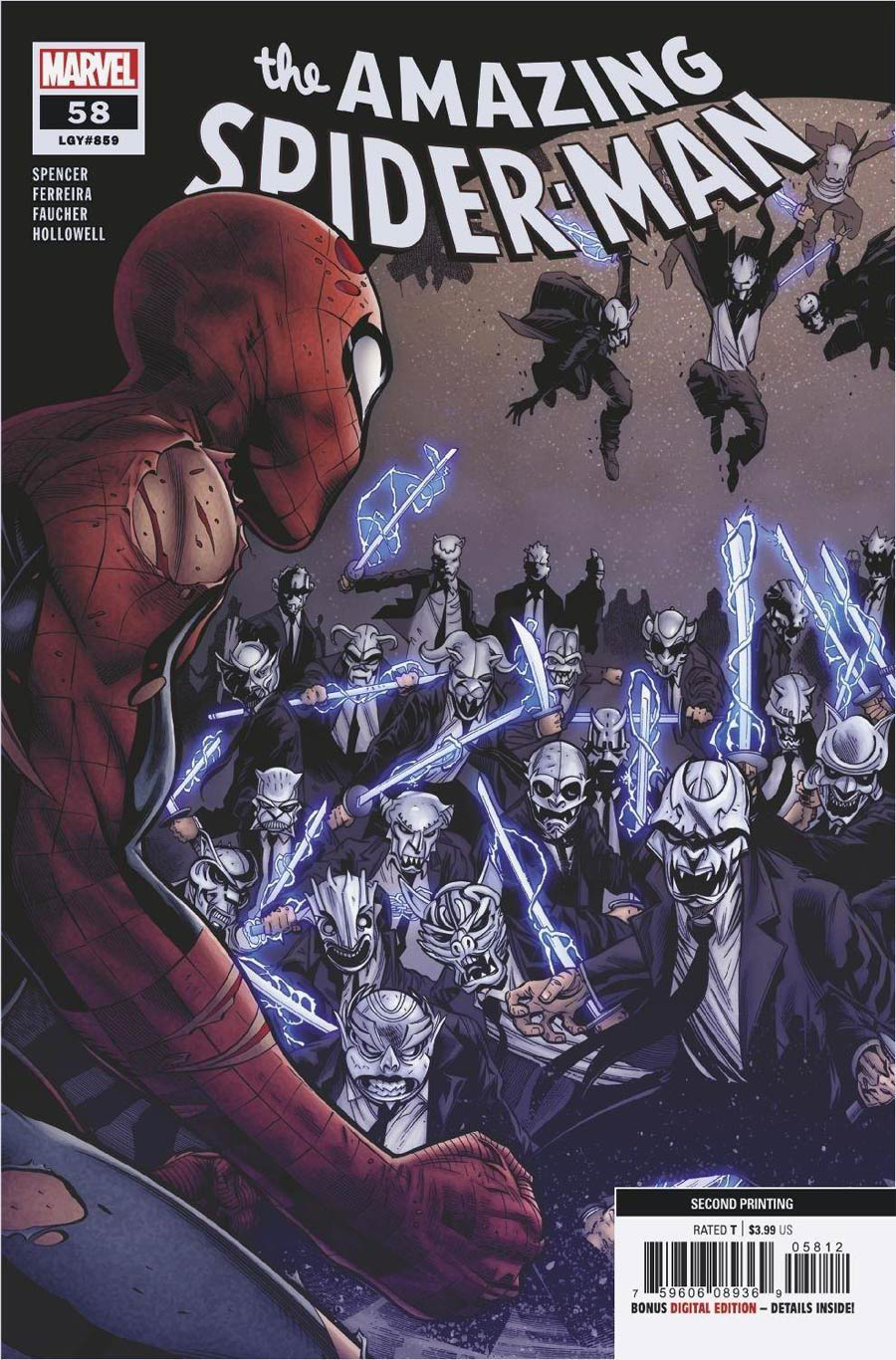 Amazing Spider-Man Vol 5 #58 Cover C 2nd Ptg Variant Cover