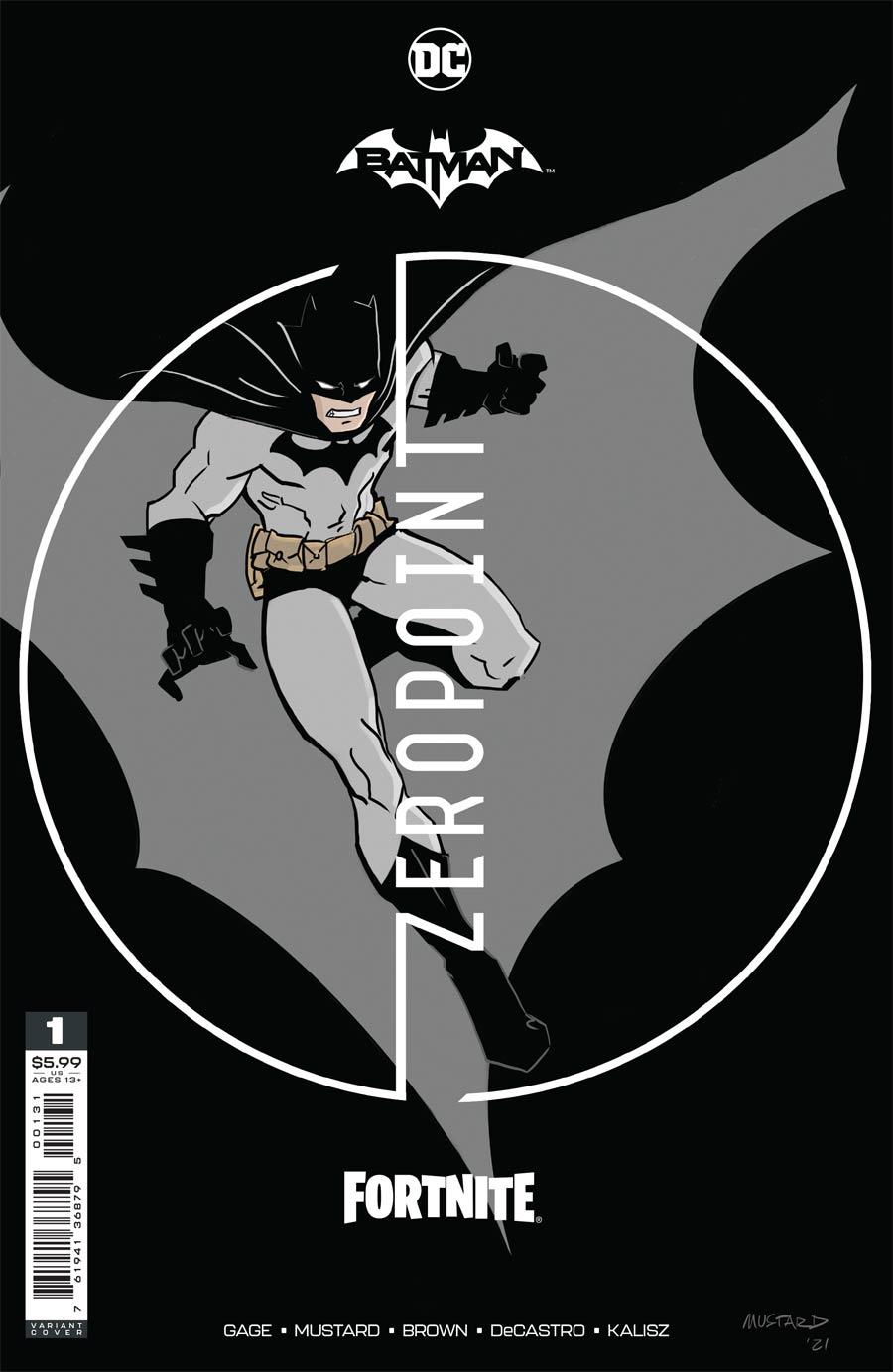 Batman Fortnite Zero Point #1 Premium Variant A Donald Mustard Card Stock Cover