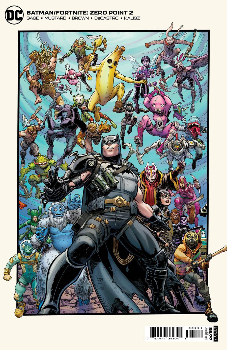 Batman Fortnite Zero Point #2 Cover B Variant Arthur Adams Card Stock Cover