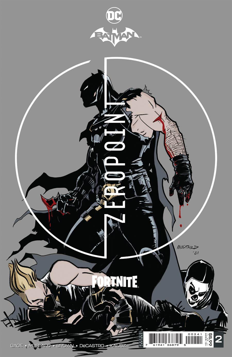 Batman Fortnite Zero Point #2 Premium Variant B Donald Mustard Card Stock Cover