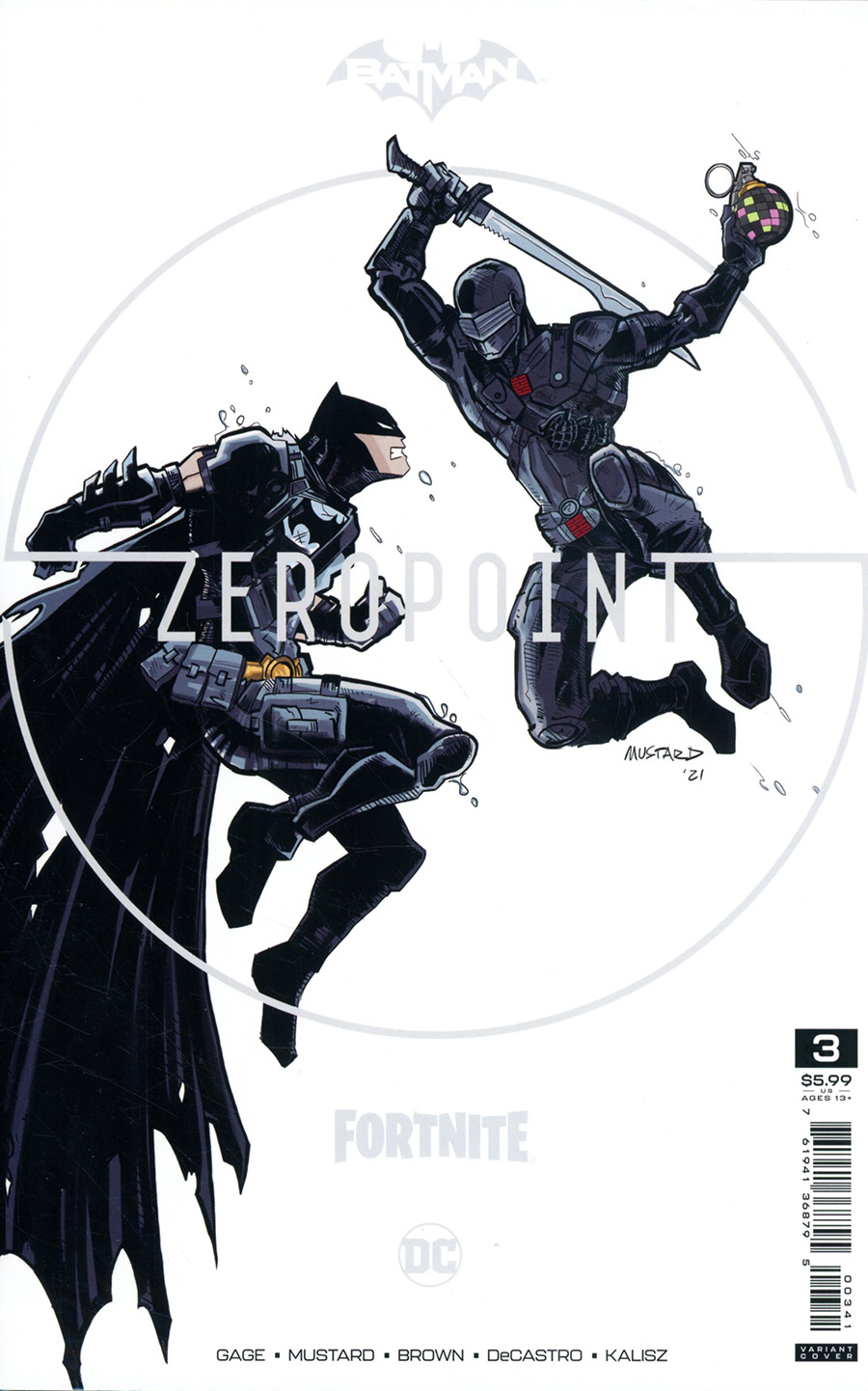 Batman Fortnite Zero Point #3 Premium Variant C Donald Mustard Card Stock Cover