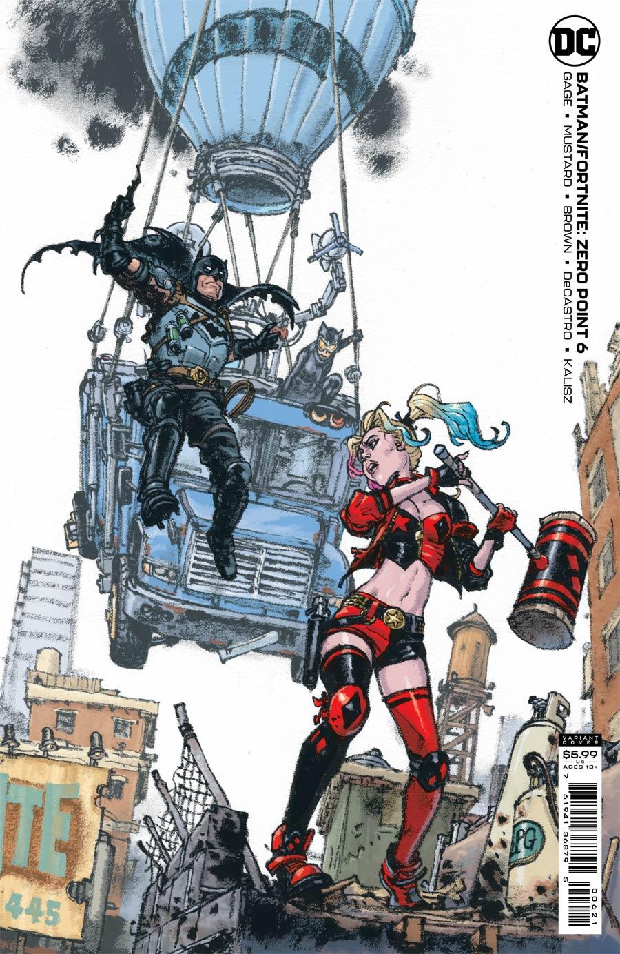 Batman Fortnite Zero Point #6 Cover B Variant Kim Jung Gi Card Stock Cover