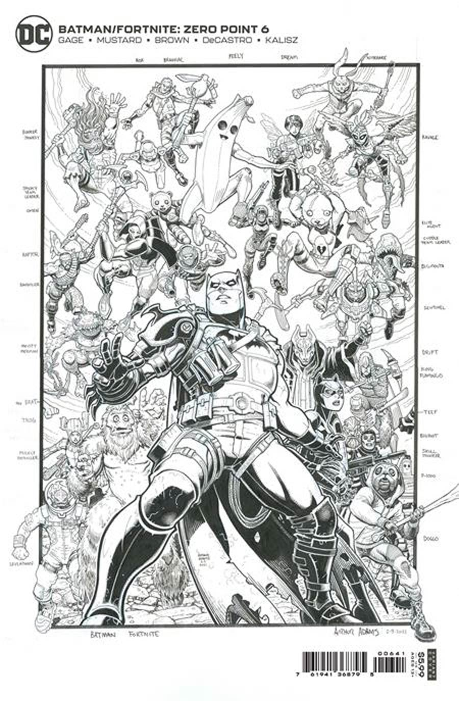 Batman Fortnite Zero Point #6 Premium Variant Incentive Arthur Adams Compilation Card Stock Cover