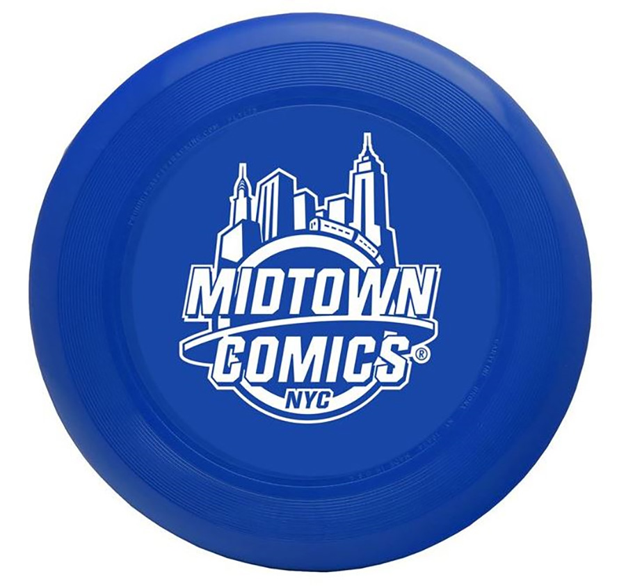 Midtown Comics White Logo Professional Weight Flying Disc