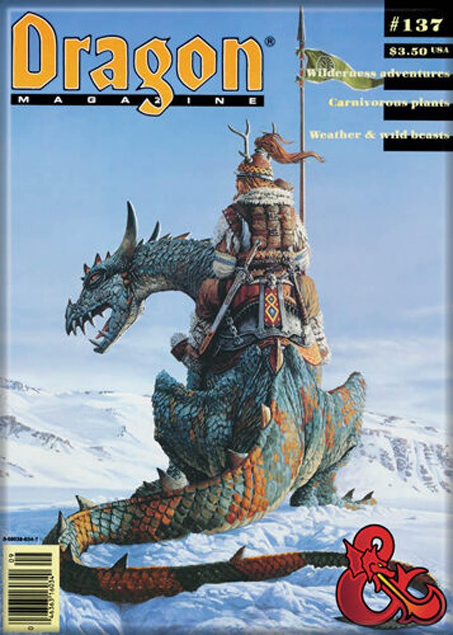 Dungeons & Dragons 2.5x3.5-Inch Magnet - Dungeon Magazine 137 (73876DD)