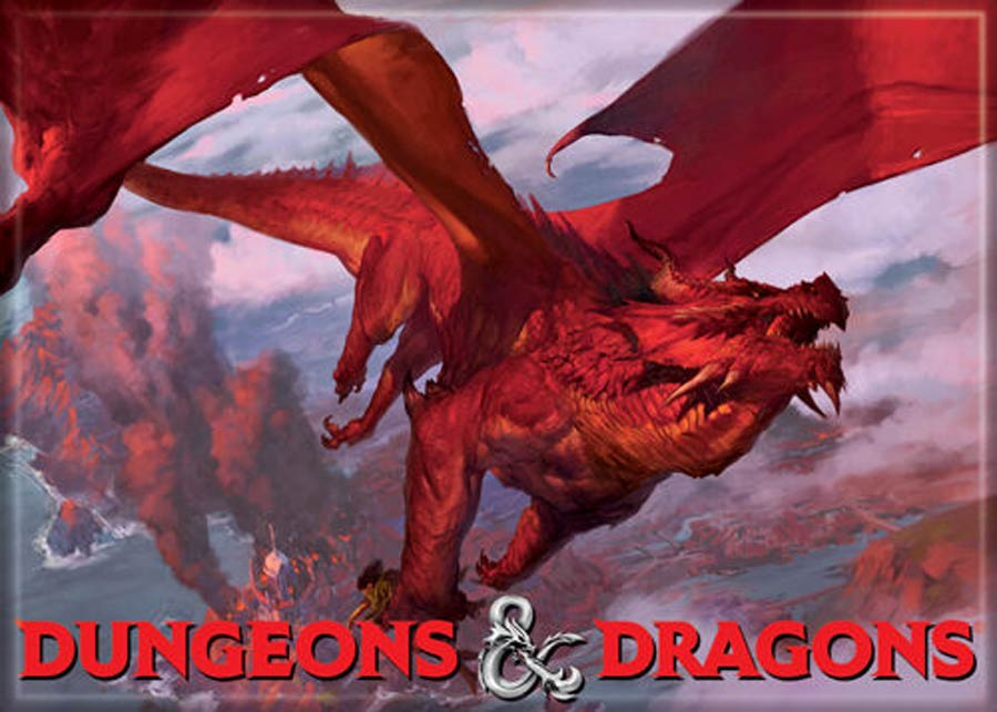 Dungeons & Dragons 2.5x3.5-Inch Magnet - Red Dragon (73891DD)