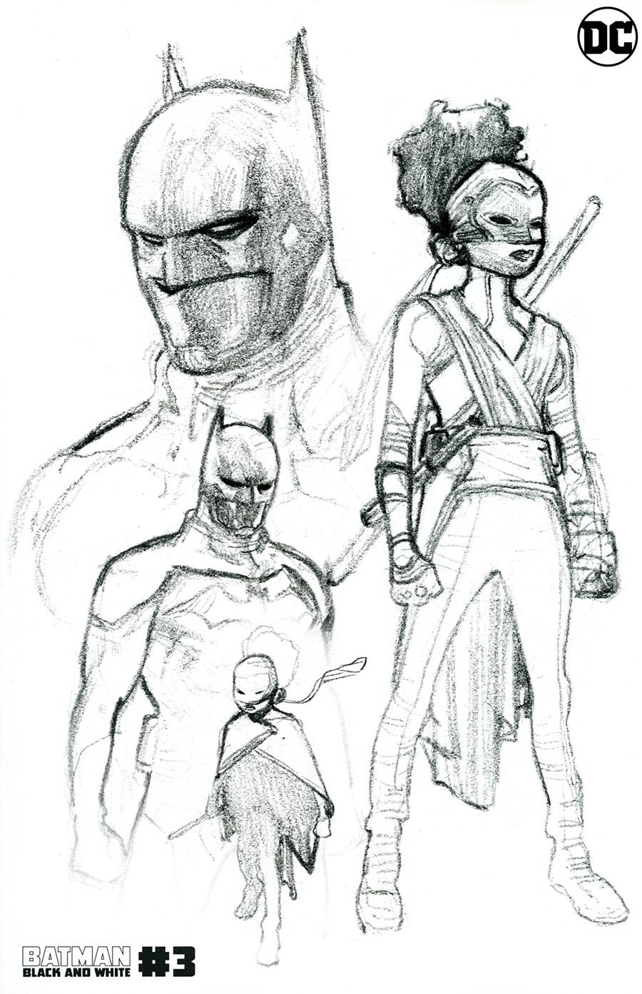 Batman Black & White Vol 3 #3 Cover D 2nd Ptg Olivier Coipel Design Variant Cover