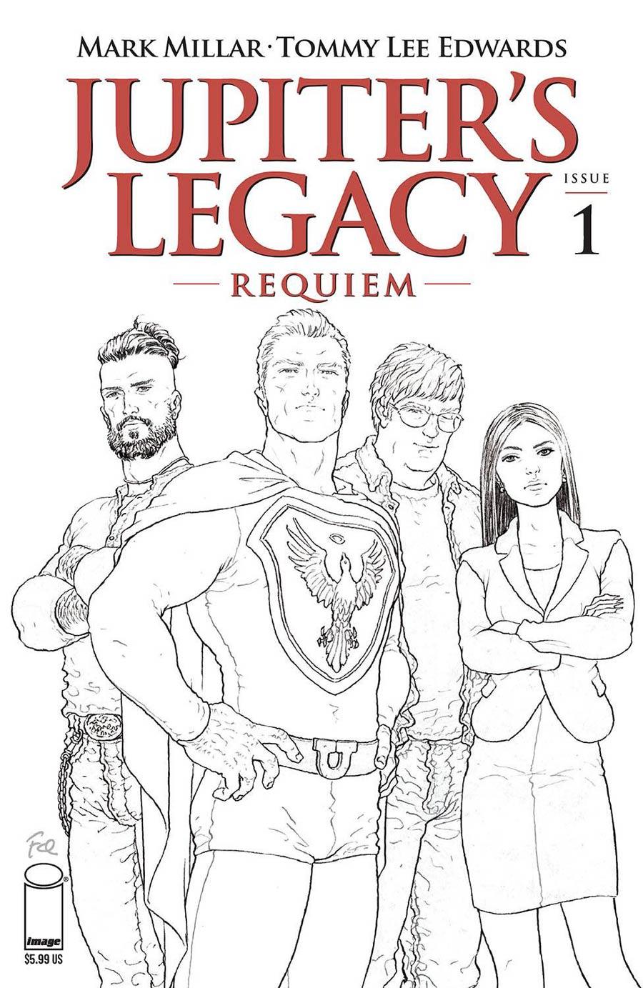 Jupiters Legacy Requiem #1 Cover C Variant Frank Quitely Black & White Cover
