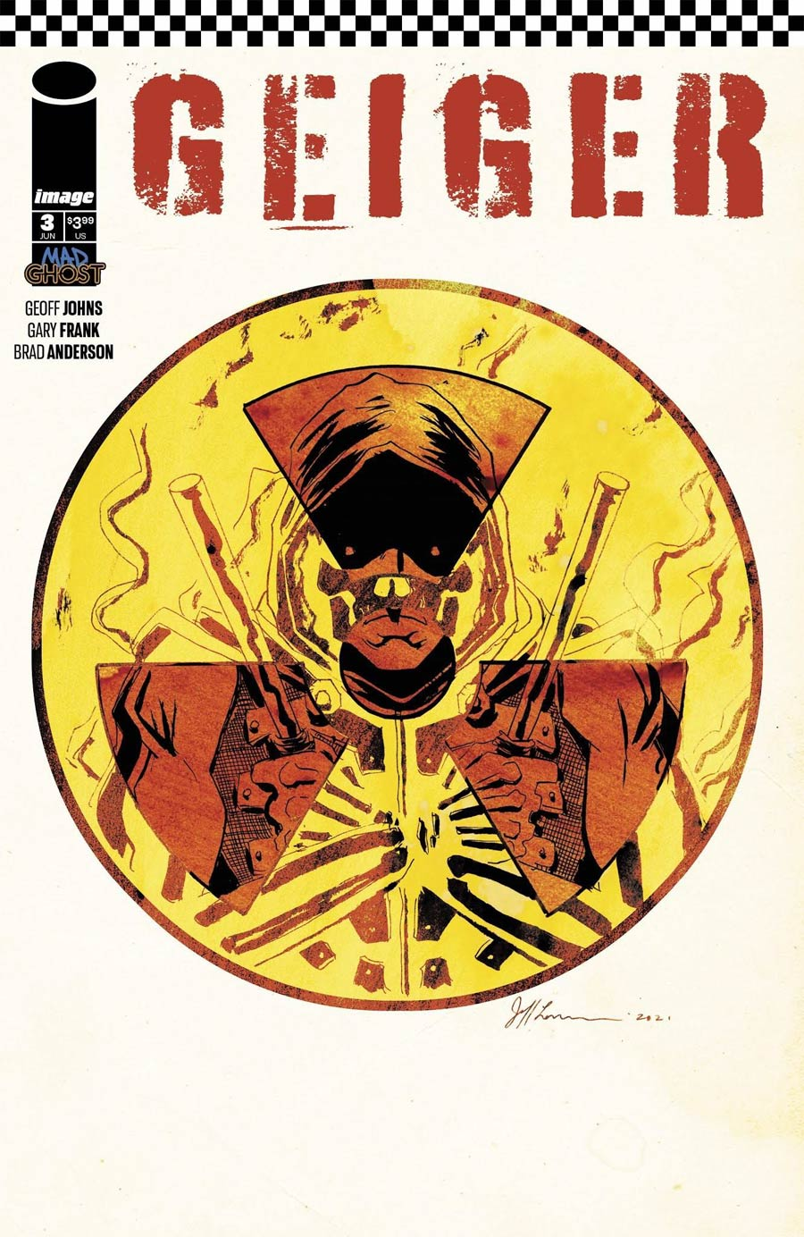 Geiger #3 Cover B Variant Jeff Lemire Cover