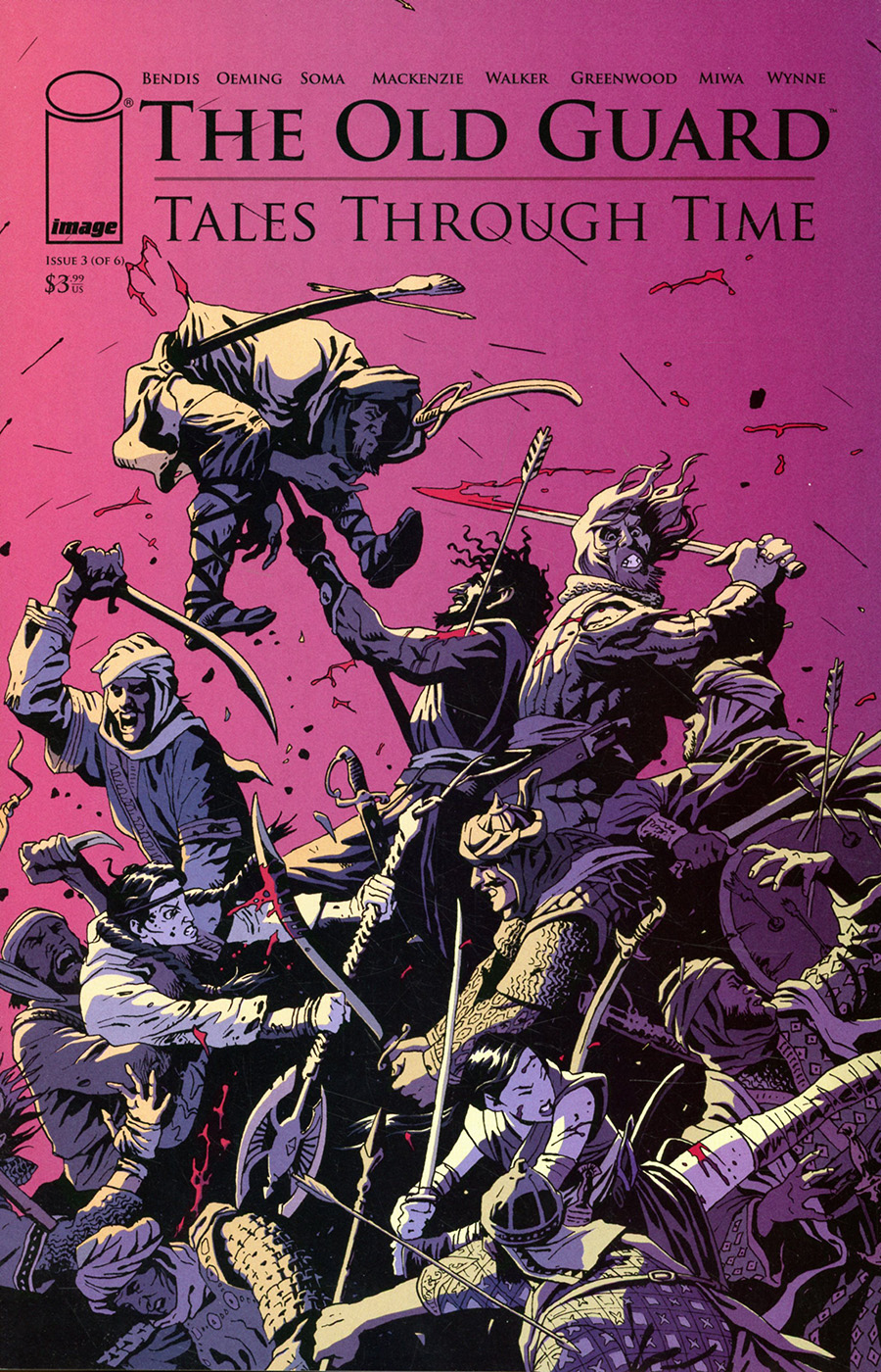 Old Guard Tales Through Time #3 Cover C Variant Leandro Fernandez Interconnecting Battlefield Cover