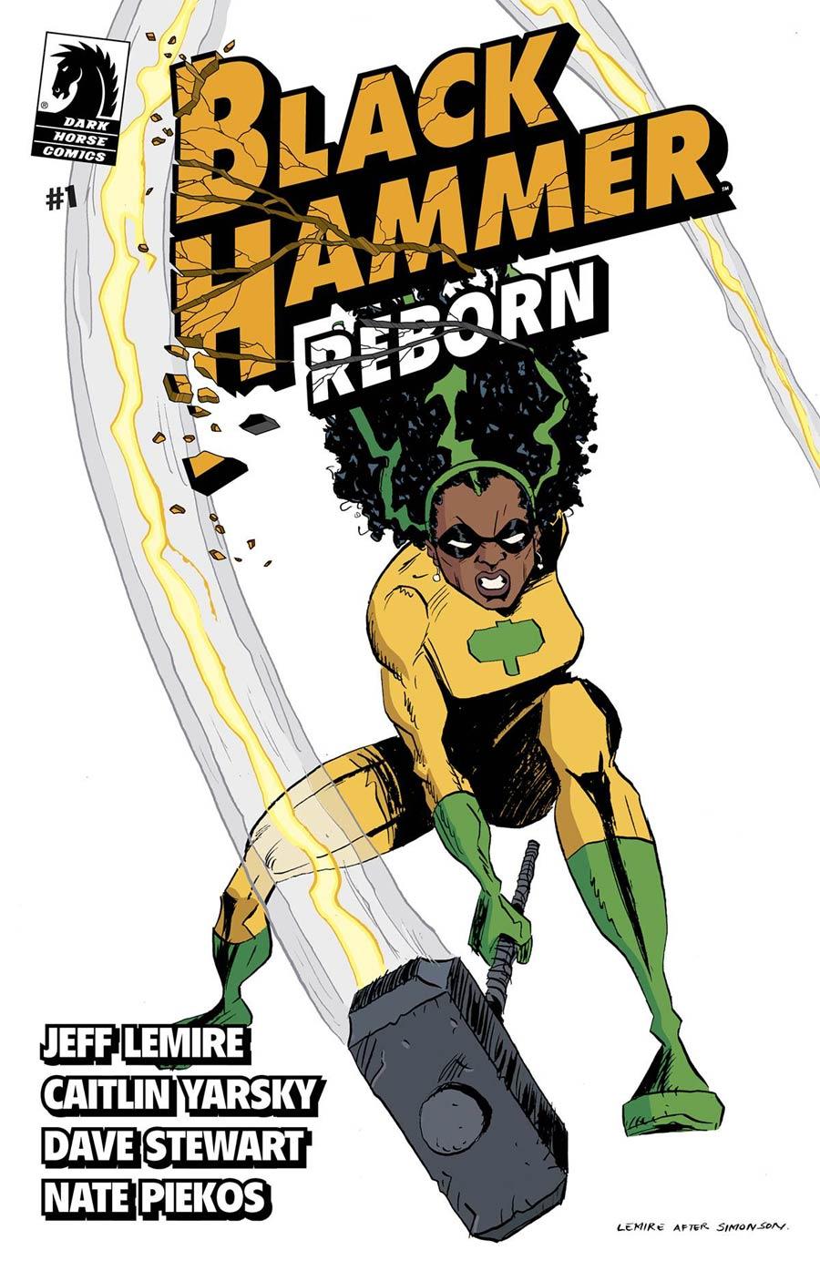 Black Hammer Reborn #1 Cover B Variant Jeff Lemire Cover