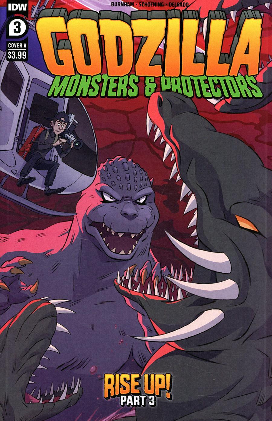 Godzilla Monsters & Protectors #3 Cover A Regular Dan Schoening Cover