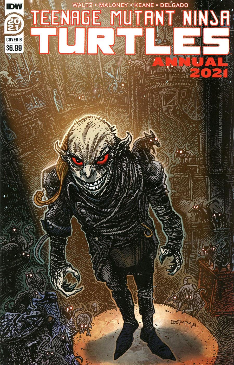 Teenage Mutant Ninja Turtles Vol 5 Annual 2021 Cover B Variant Kevin Eastman Cover