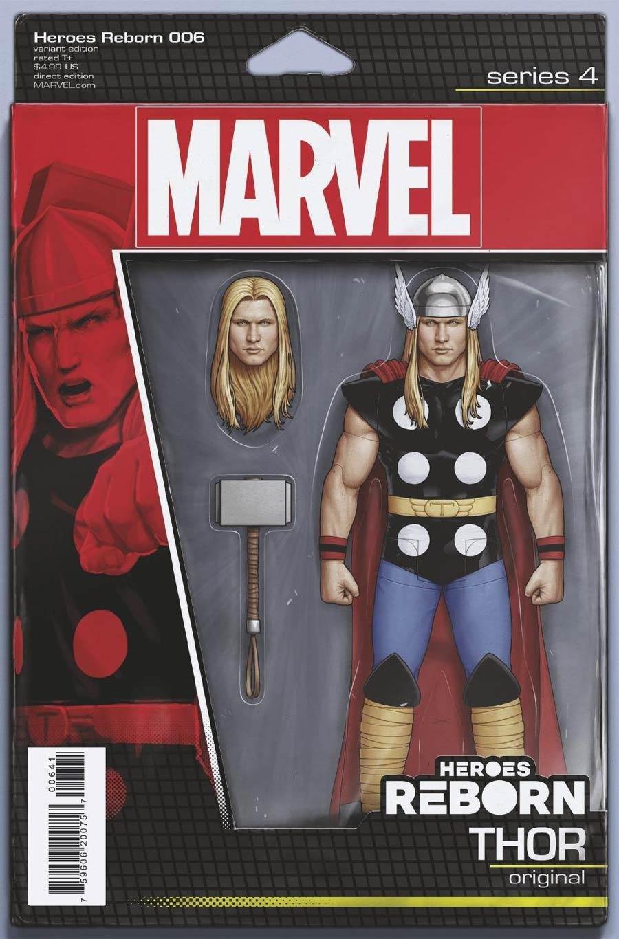 Heroes Reborn #6 Cover C Variant John Tyler Christopher Action Figure Cover