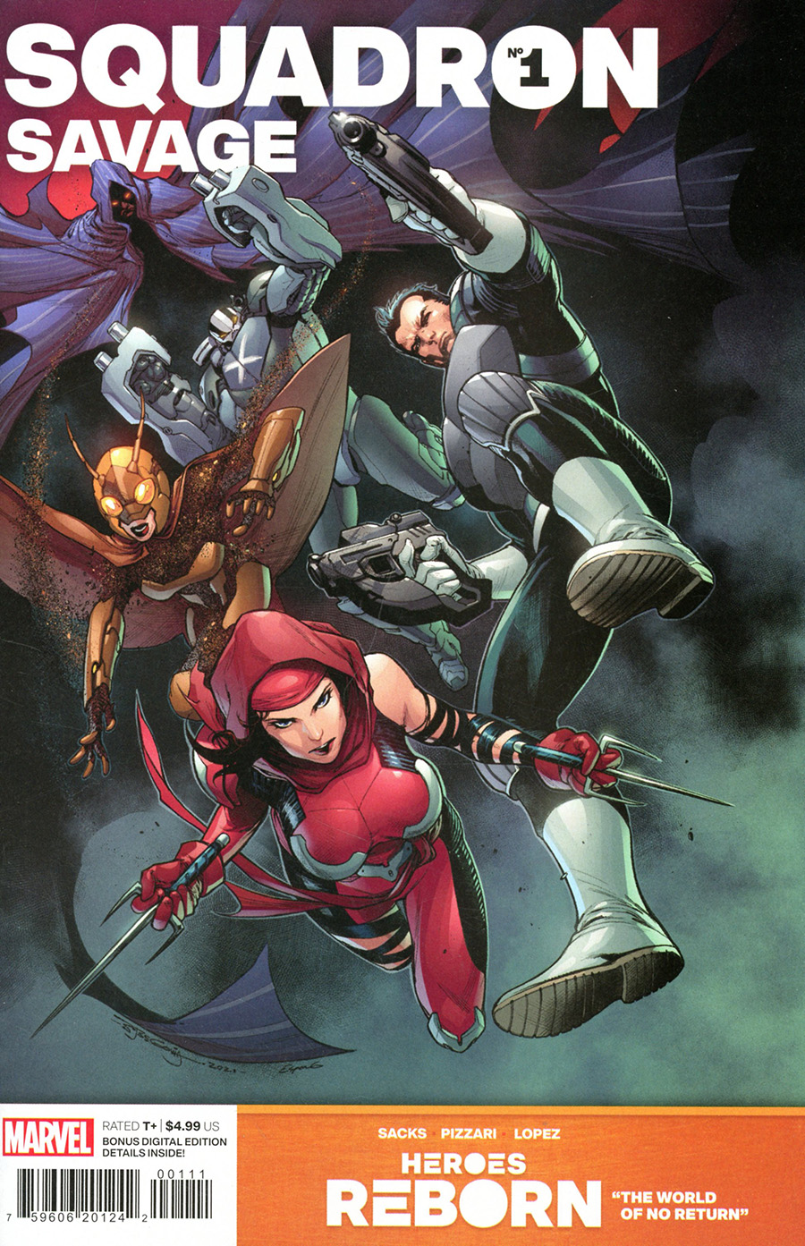 Heroes Reborn Squadron Savage #1 (One Shot) Cover A Regular Stephen Segovia Cover