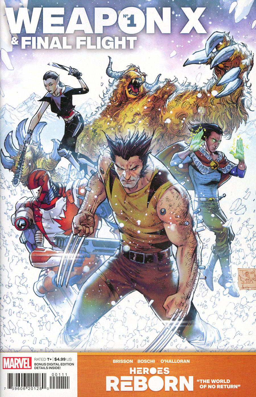 Heroes Reborn Weapon X And Final Flight #1 (One Shot) Cover A Regular Tony Daniel Cover
