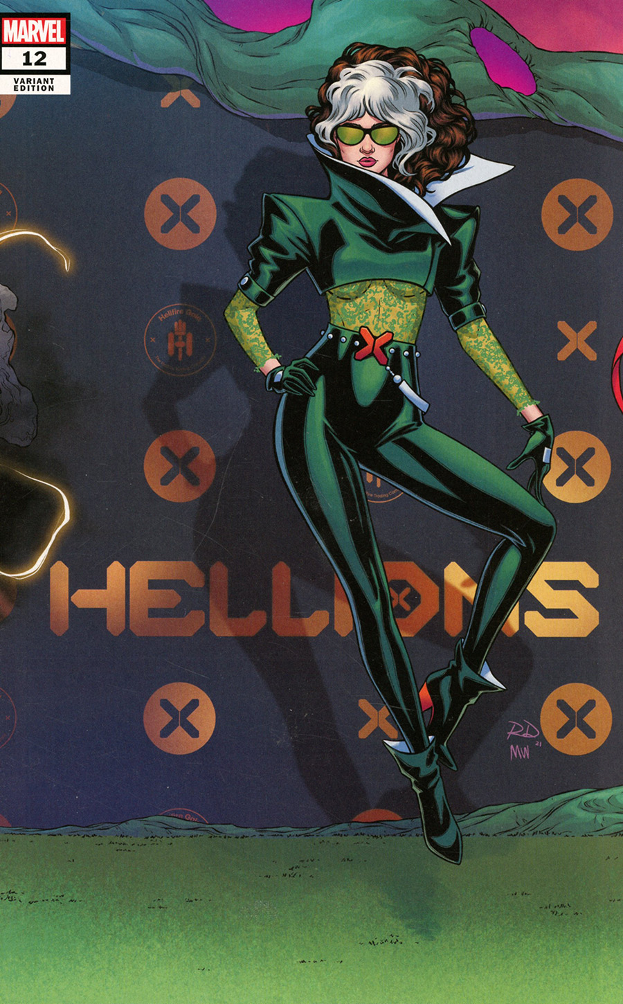 Hellions #12 Cover B Variant Russell Dauterman Connecting Cover (Hellfire Gala Tie-In)