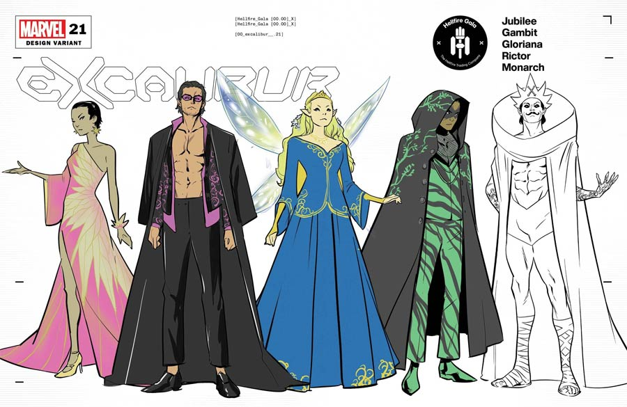 Excalibur Vol 4 #21 Cover C Variant Marcus To Character Design Cover (Hellfire Gala Tie-In)