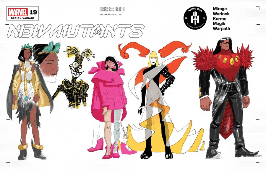 New Mutants Vol 4 #19 Cover C Variant Alex Lins Character Design Cover (Hellfire Gala Tie-In)
