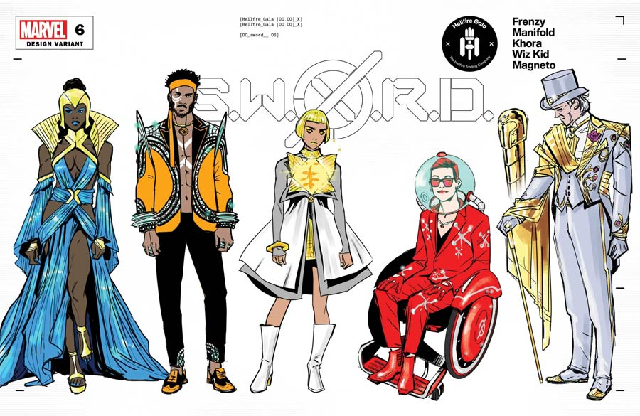 S.W.O.R.D. Vol 2 #6 Cover C Variant Valerio Schiti Character Design Cover (Hellfire Gala Tie-In)