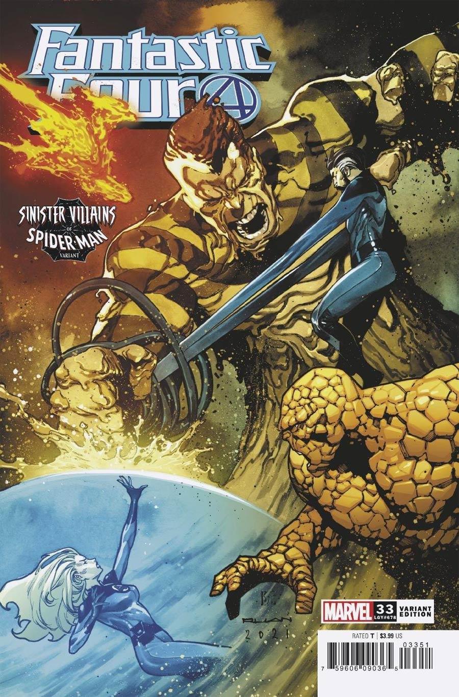 Fantastic Four Vol 6 #33 Cover B Variant Dike Ruan Spider-Man Villains Cover