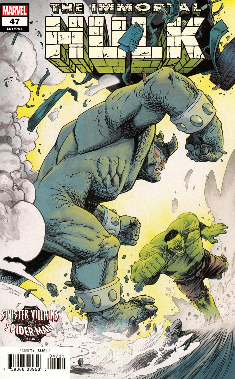 Immortal Hulk #47 Cover B Variant Declan Shalvey Spider-Man Villains Cover