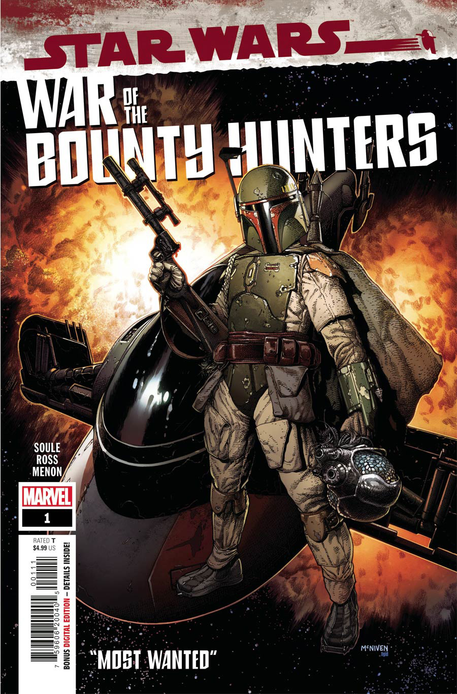 Star Wars War Of The Bounty Hunters #1 Cover A Regular Steve McNiven Cover