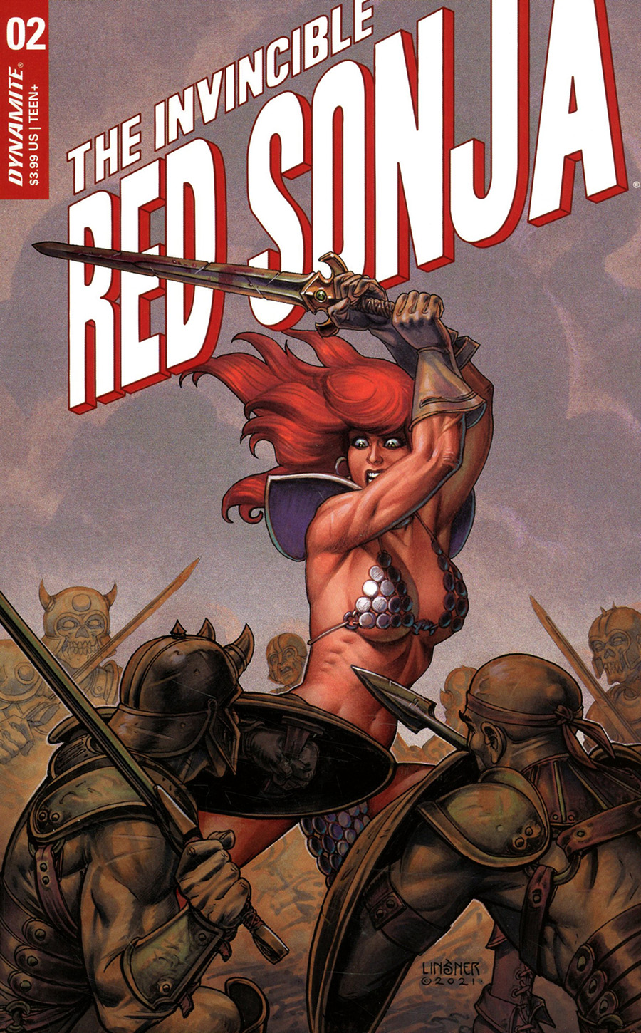Invincible Red Sonja #2 Cover B Variant Joseph Michael Linsner Cover