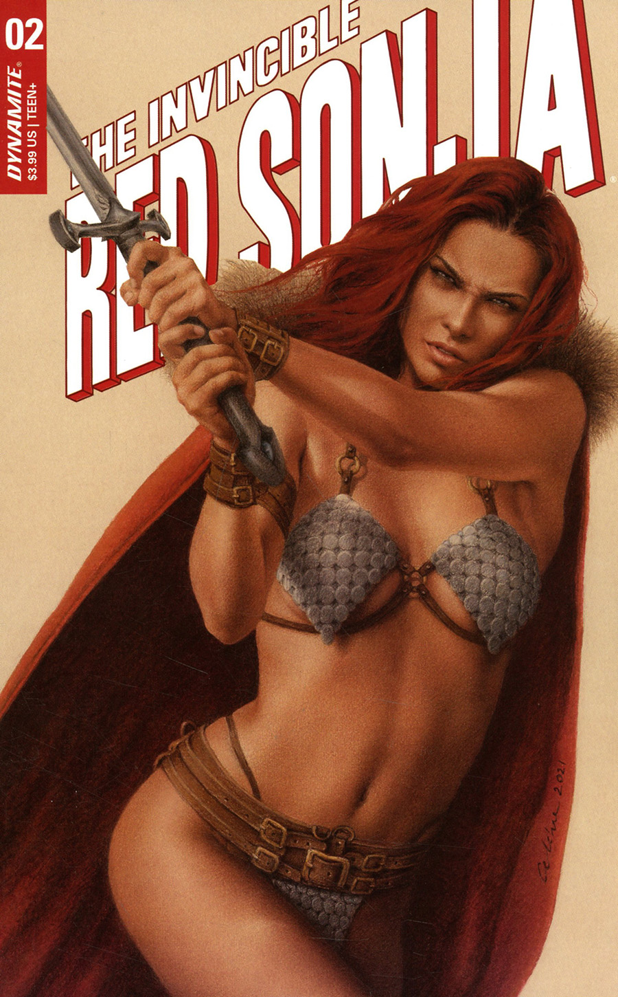 Invincible Red Sonja #2 Cover C Variant Celina Cover