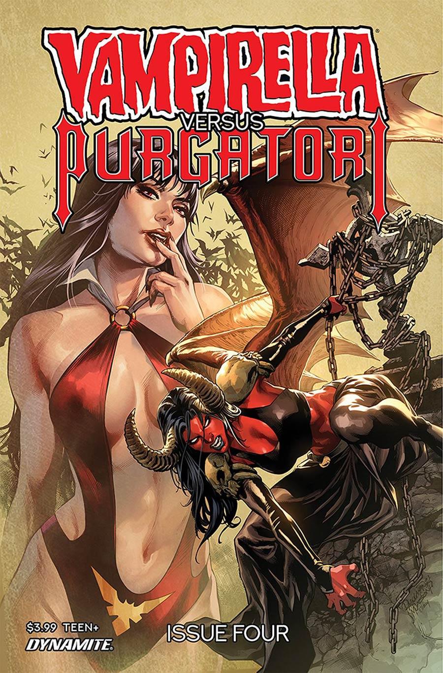 Vampirella vs Purgatori #4 Cover B Variant Carlo Pagulayan Cover