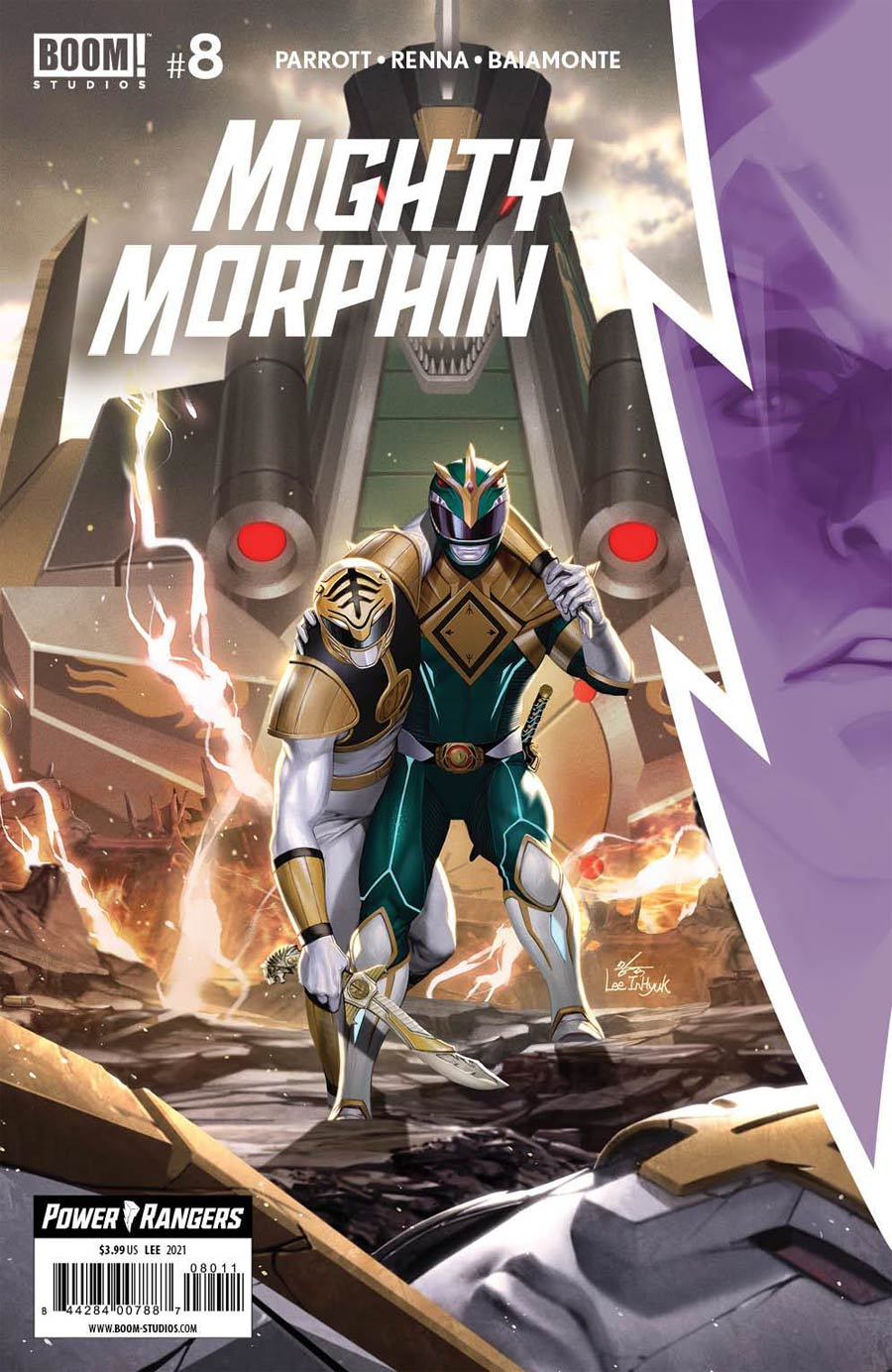 Mighty Morphin #8 Cover A Regular Inhyuk Lee Cover