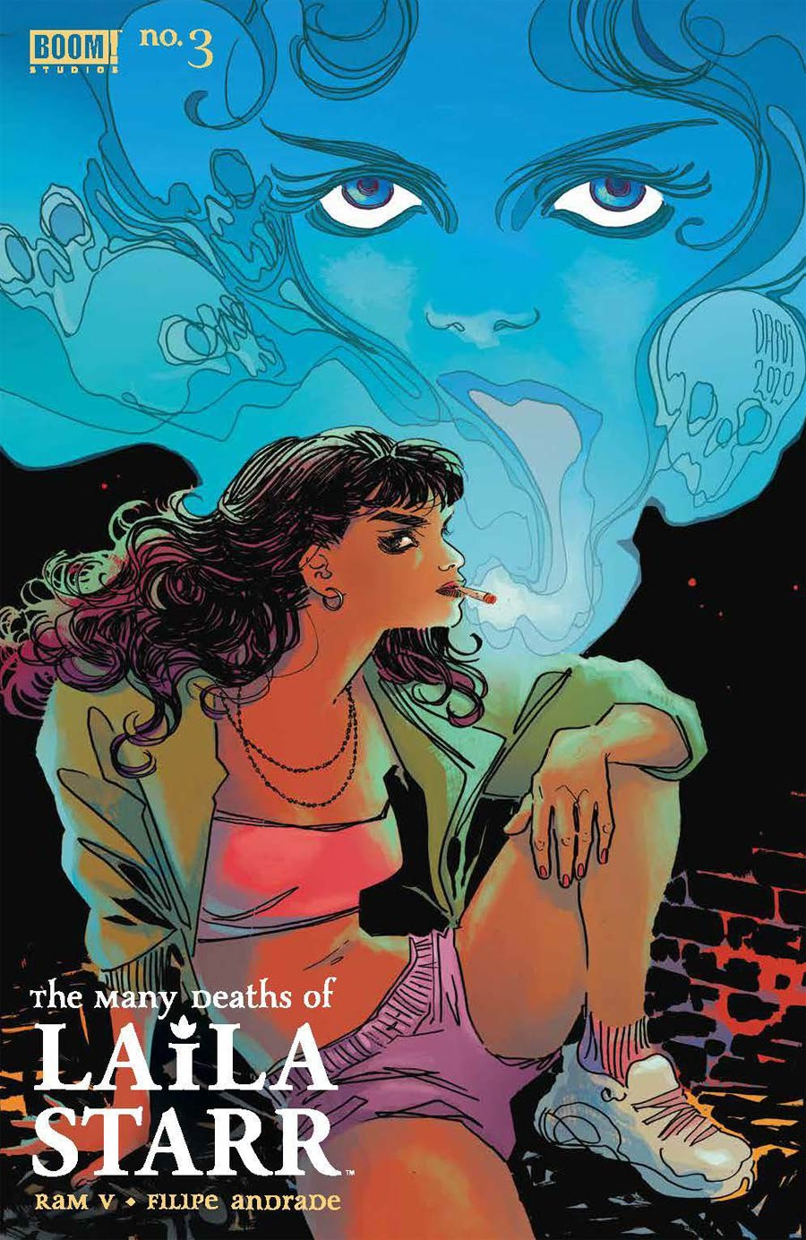 Many Deaths Of Laila Starr #3 Cover B Variant Dani Death Foil Cover