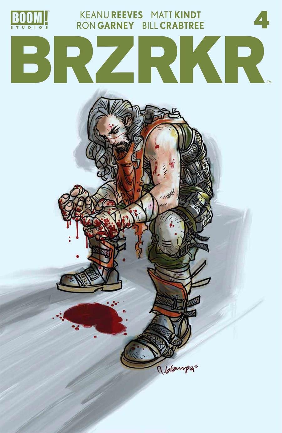 BRZRKR (Berzerker) #4 Cover C Variant Rafael Grampa Foil Cover