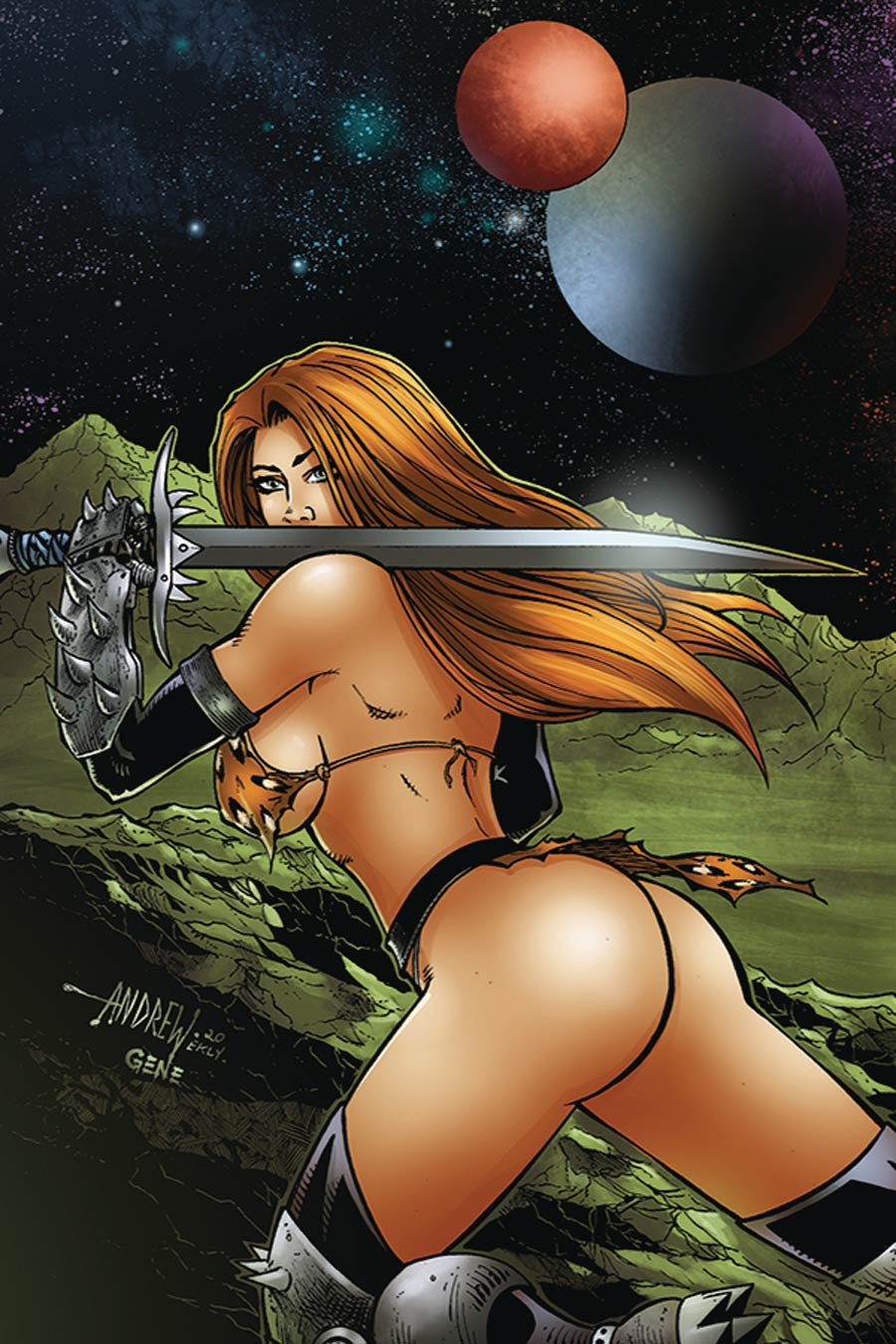 Cavewoman Metal Age #2 Cover B Variant Andrew Mangum Cover
