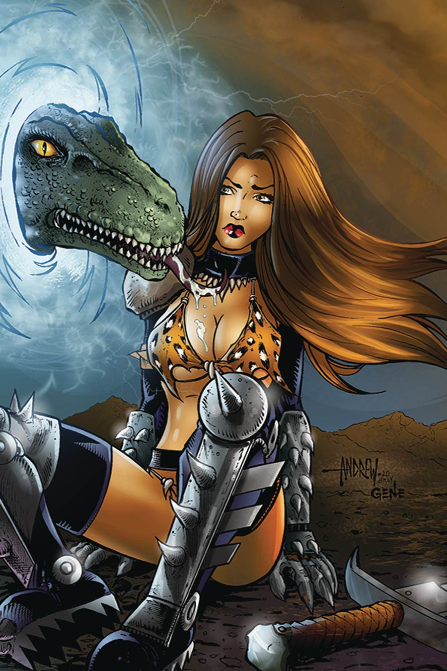 Cavewoman Metal Age #2 Cover C Variant Andrew Mangum Nude Cover