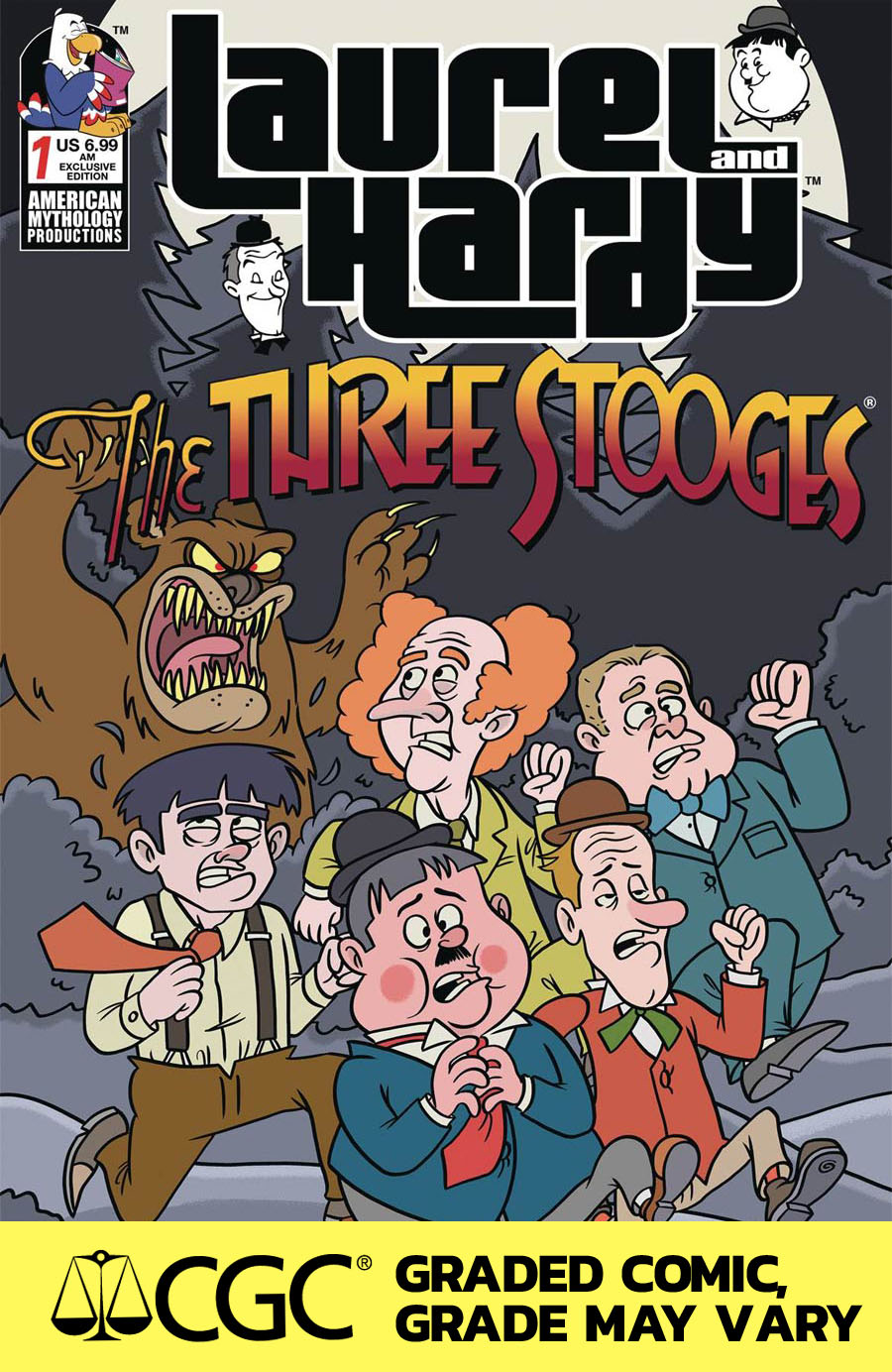 Laurel And Hardy Meet The Three Stooges #1 Cover E American Mythology Exclusive Dean Rankine Variant Cover CGC 9.8