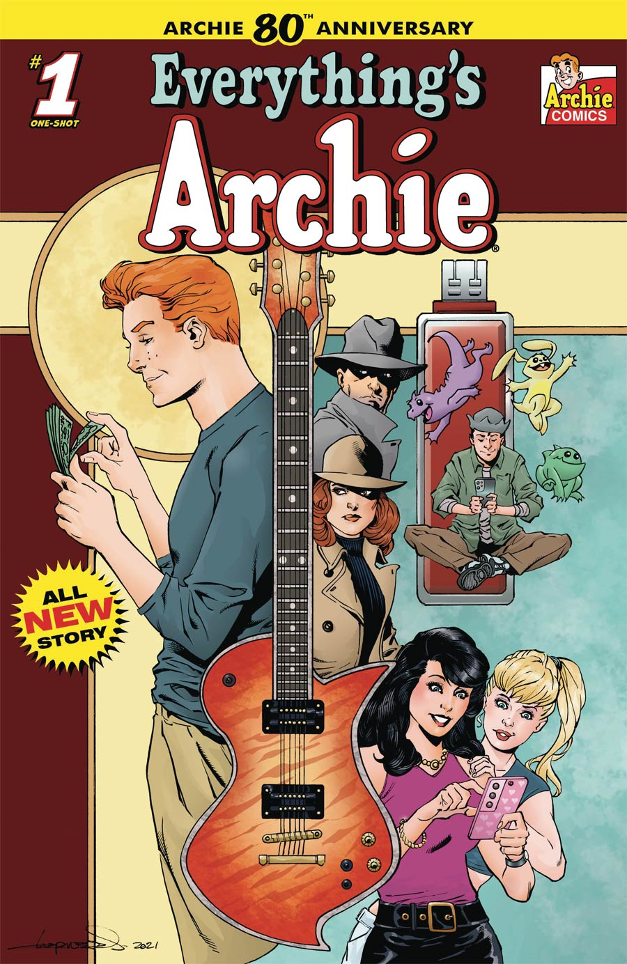 Archie 80th Anniversary #1 (One Shot) Everythings Archie Cover D Variant Aaron Lopresti Cover
