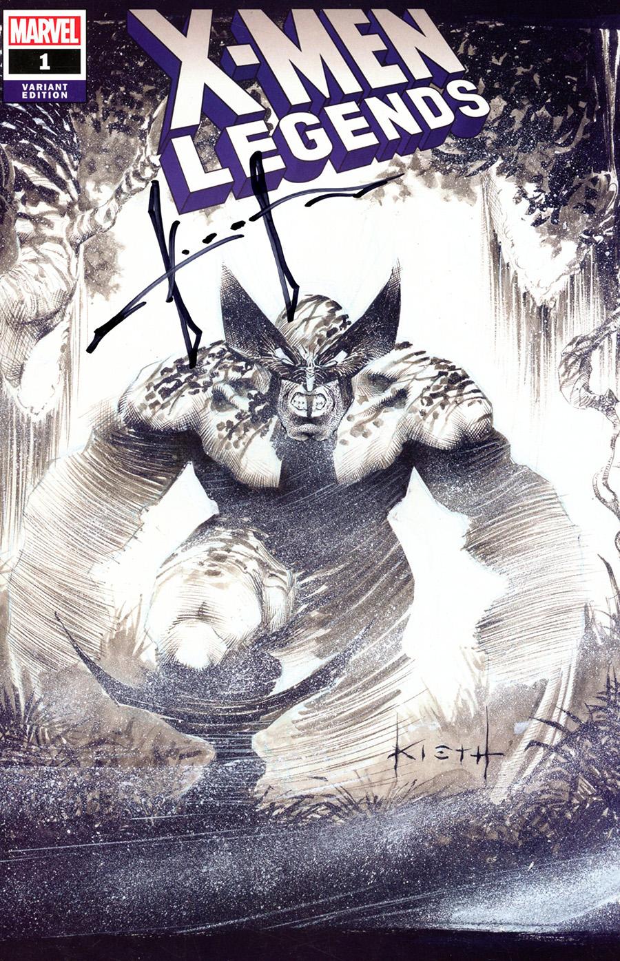 X-Men Legends #1 Cover H Clover Press Exclusive Sam Kieth Variant Cover Signed By Sam Kieth