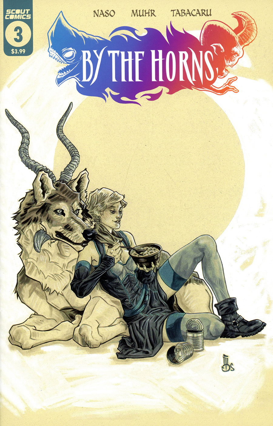 By The Horns #3 Cover B Variant Mark Dos Santos Cover (Limit 1 Per Customer)