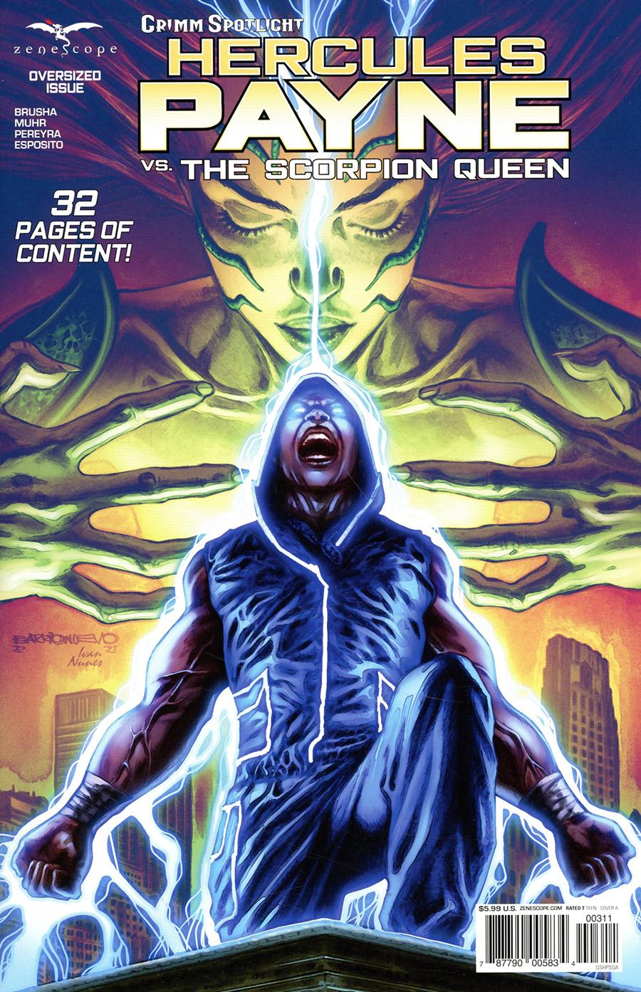 Grimm Spotlight Hercules Payne vs Scorpion Queen Cover A Al Barrionuevo