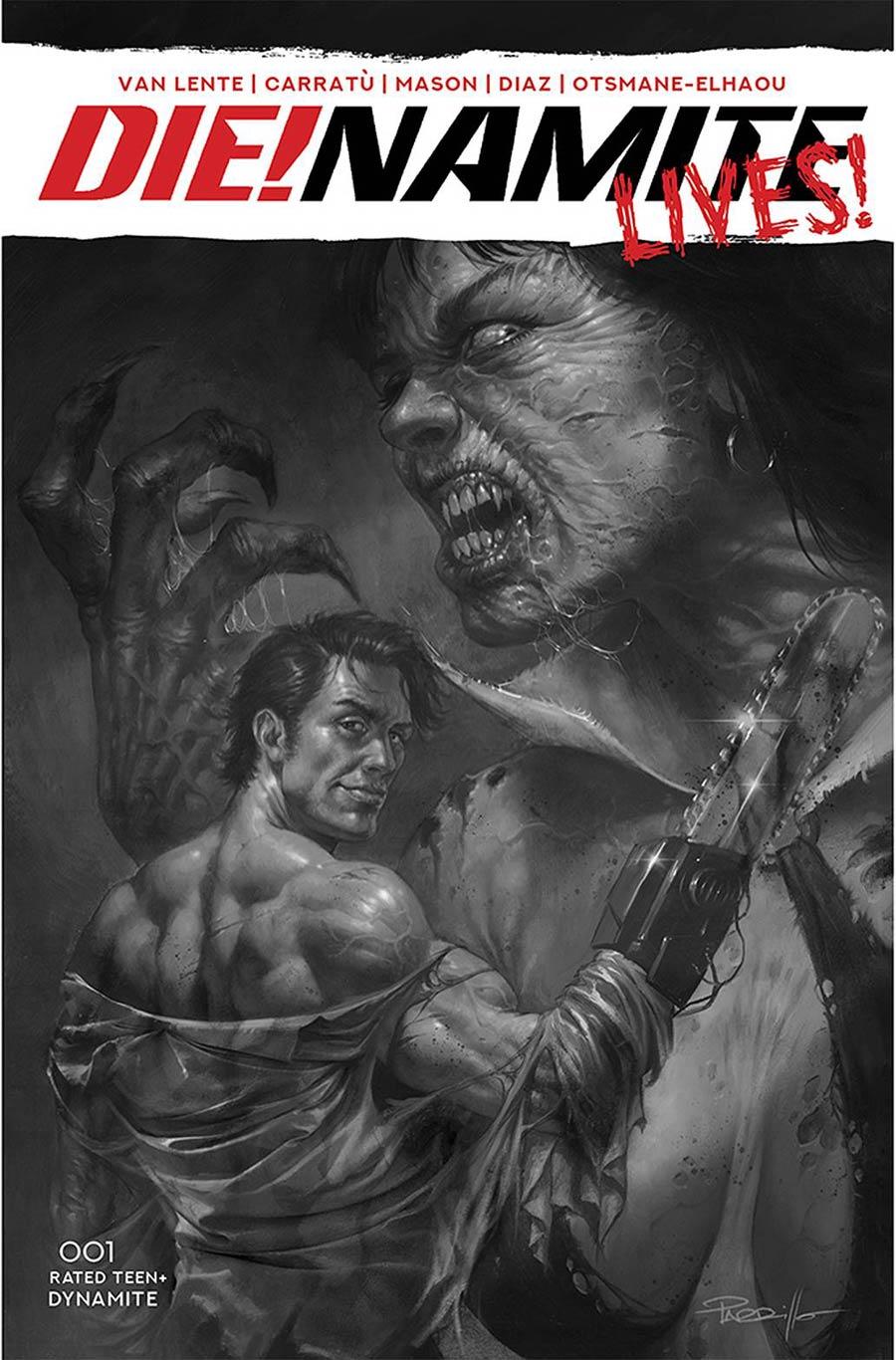 DieNamite Lives #1 Cover P Incentive Lucio Parrillo Black & White Cover