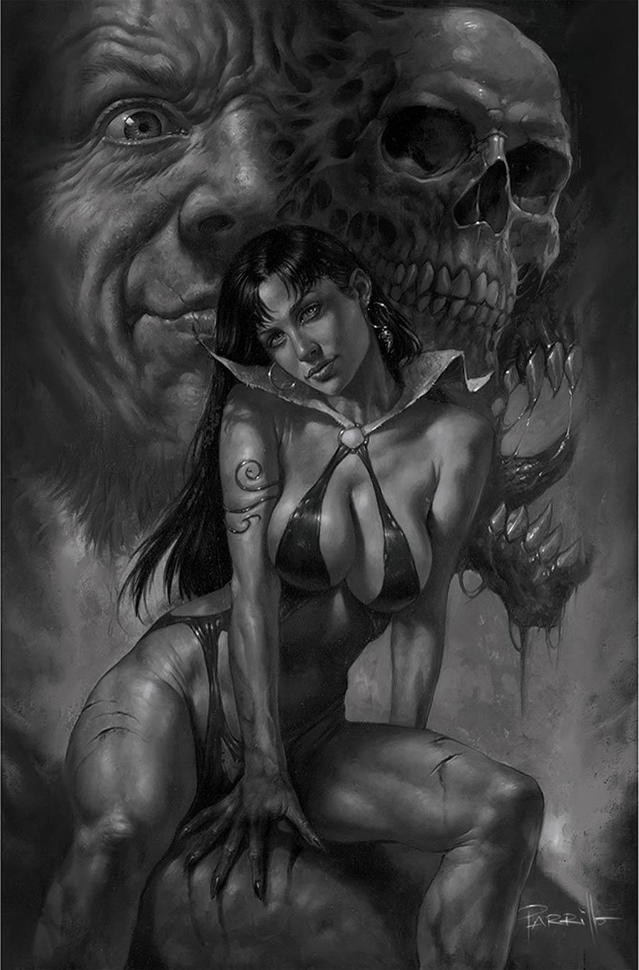 Vampirella Vol 8 #22 Cover K Incentive Lucio Parrillo Black & White Virgin Cover