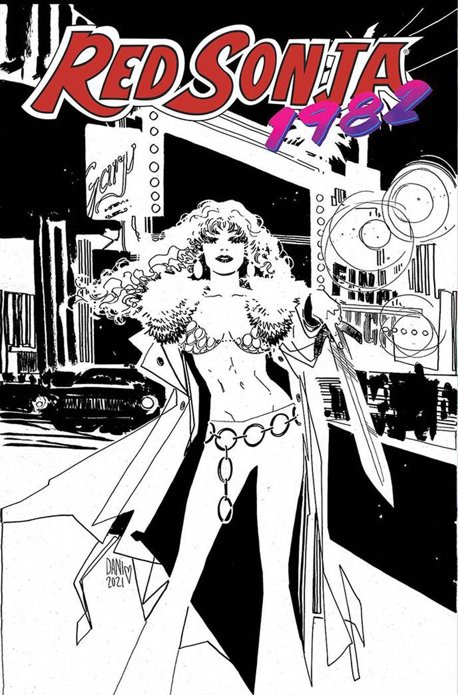 Red Sonja 1982 #1 (One Shot) Cover F Incentive Dani Line Art Cover