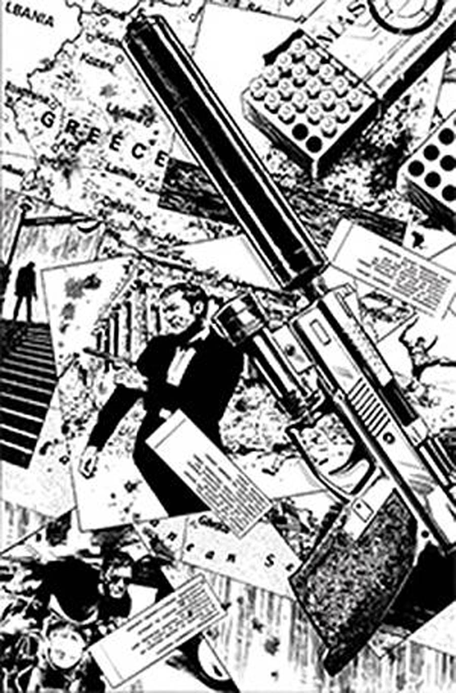 James Bond Agent Of SPECTRE #4 Cover G Incentive Butch Guice Black & White Virgin Cover