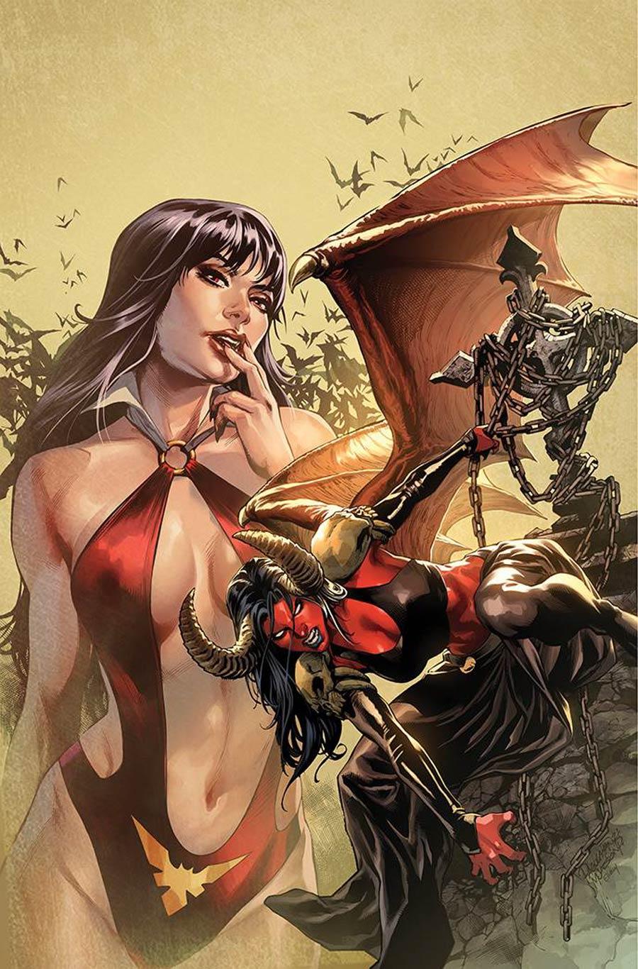 Vampirella vs Purgatori #4 Cover K Incentive Carlo Pagulayan Virgin Cover