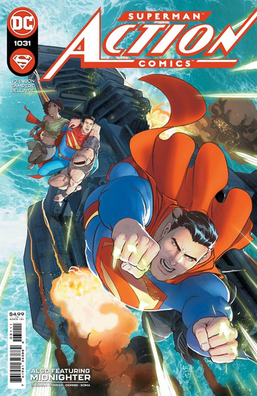 Action Comics Vol 2 #1031 Cover C DF Signed By Phillip Kennedy Johnson