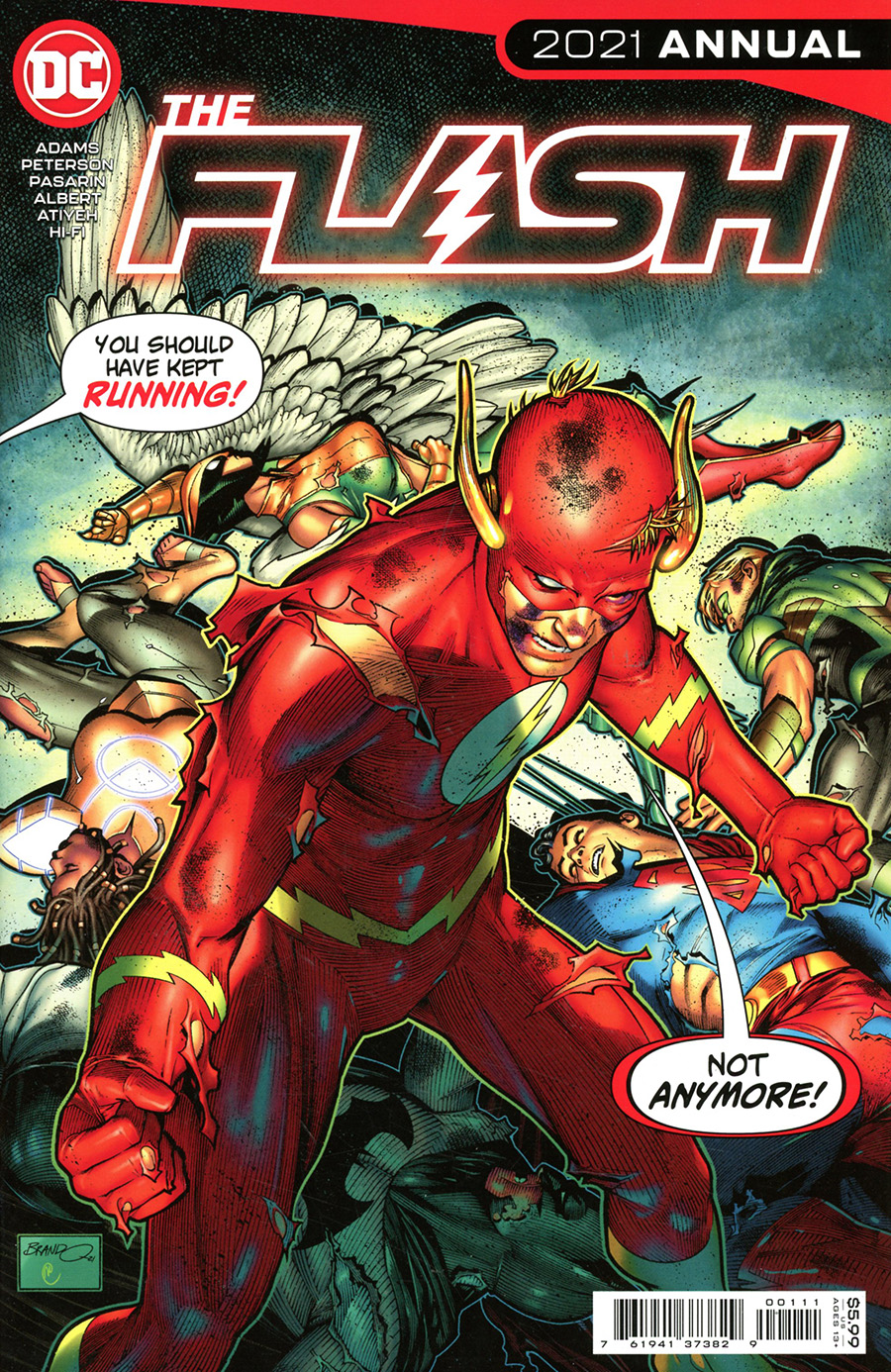 Flash Vol 5 Annual 2021 #1 Cover A Regular Brandon Peterson Cover